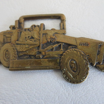 JD 570 Motor Grader Pocket Watch Fob