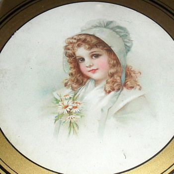 "Frances Brundage framed print 8 1/2"" round"