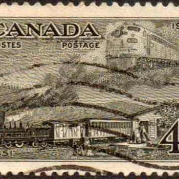 "1951 - Canada ""Trains"" Postage Stamp"