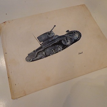 Vintage Tank Painting by, John Summers