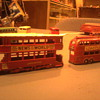 Matchbox Toy buses.  Great detail, advertising and colorful...