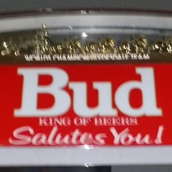 Budweiser Clydesdale Billiard Light with US Army Logos  - Breweriana