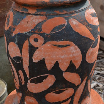 To clean or not to clean? J. A. Bauer Pottery 4 Gal Crock - Los Angeles - Art Pottery