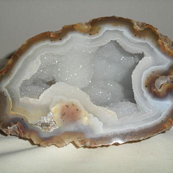 White Crystal Geode ~ Brazilian Agate - Fine Jewelry