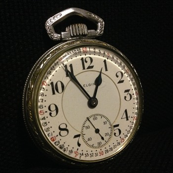 Elgin Father Time Pocket Watch (Railroad?) - Pocket Watches