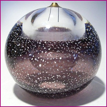 Round Glass - Oil Burner - Art Glass