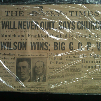 antique newspapers from the Quad-Cities