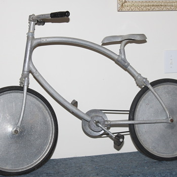 Very cool vintage child&#039;s &quot;space age&quot; aluminum bicycle.