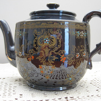Red Moriage Teapot - from England? - China and Dinnerware