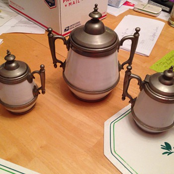 Tea set and server