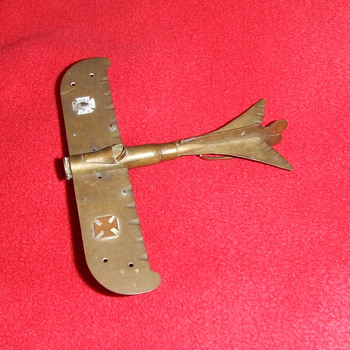 Trench art Taube airplane from WW1