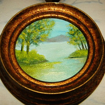 "Vintage Oil Painting Signed ""MEER1? 2004"""