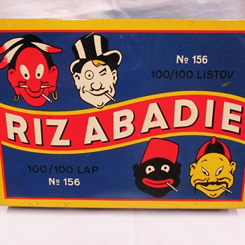 4 Races Riz Abadie Rolling Papers tin 1930. - Advertising