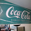 Green Coca Cola Sign