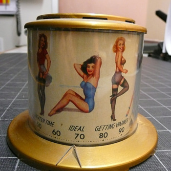Thompson Pin Up Thermometer 1940&#039;s Super 8Rare Beauties - Advertising