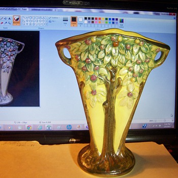 "Vintage Weller Pottery Company ""Fan Vase""? - Art Pottery"