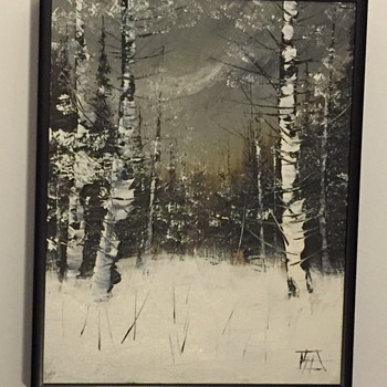 Painting of trees in the winter time. - Visual Art