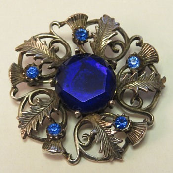 Scottish Thistle Brooch - Costume Jewelry