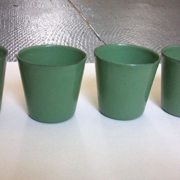 Vollrath Green Enamel 'Shot Glasses'