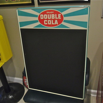 Double Cola Chalkboard 50s era - Advertising