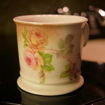 Vintage Leuchtenburg Germany Porcelain Shaving Mug (Roses)