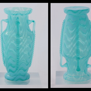 A New Welz Décor - Opalescent Wave - A 2nd Opalescent Pattern Glass Décor!! - Art Glass