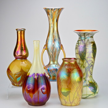 A Small Collection of Tiffany, Quezal and Imperial Art Glass - Art Glass