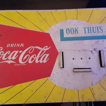 Metal sign 1960? - Coca-Cola