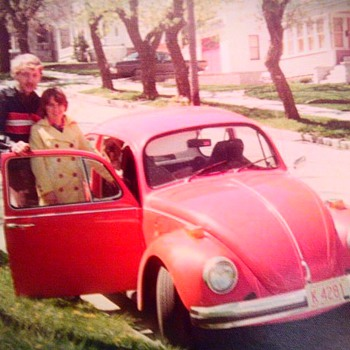 Mom and dads first car - Photographs