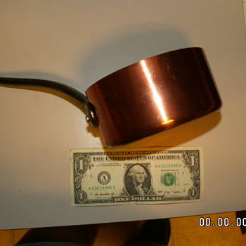 Baumalu French Copper Small Sauce Pan 4.5 X 3""