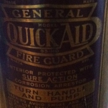 General quick aid fire guard. - Firefighting