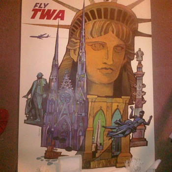 New York TWA Poster