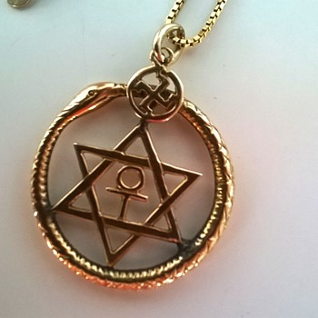 14K Gold Antique Market Find - Theosophical Society Symbol of 1875. - Fine Jewelry