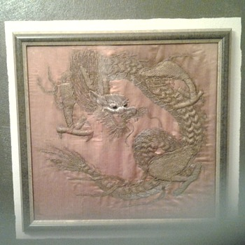 Dragon silk embrodery