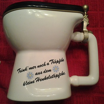Made in Germany Porcelain Toilet Stine / Mug - Breweriana