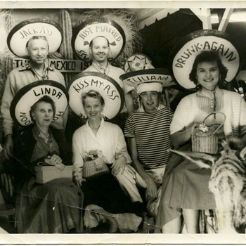 Tijuana 1950's have your photo on the donkey . Remember these ? - Photographs