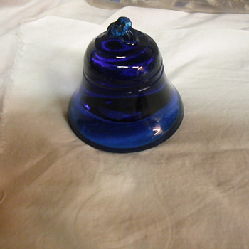 Glass Blue bell paperweight - Art Glass