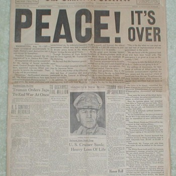PEACE ! It&#039;s Over 1945 - Paper