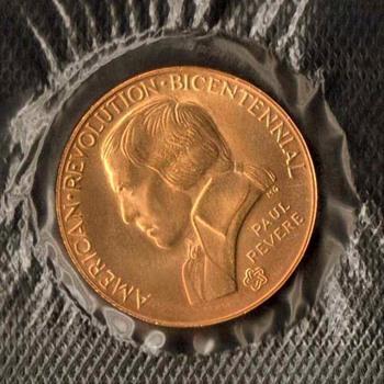 1976 - Bicentennial Medal (Paul Revere)