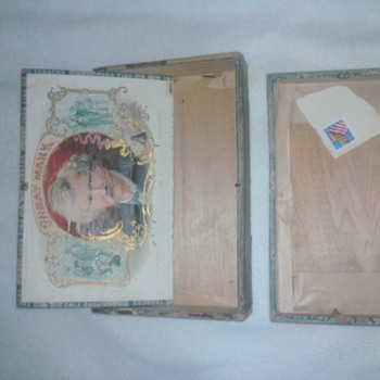 1880 Great Mark cigar box - Tobacciana