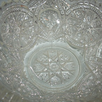 I have a cute early american cut glass? Depression? glass bowl