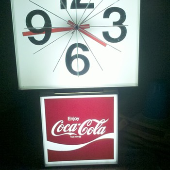 coca cola lighted clock sign