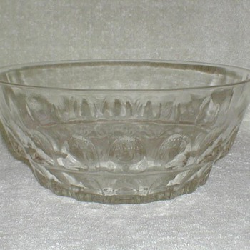 Pressed Glass Punch Bowl ? - Glassware