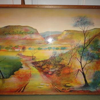 Mountain Scene Watercolor - Visual Art