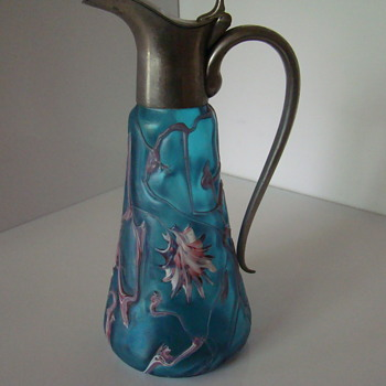 "PK or Kralik ""abstract flower"" decanter"