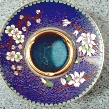 "Beautiful Chinese "" Jingfa"" Cloisonne Writing Brush Washing Dish / Circa 1950's 60's"