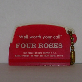 Four Roses Distillers - Key Chain - Coin Holder - Ice Scraper - Advertising