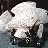 Impressive Large Carp Figurine / Unknown Maker or Age