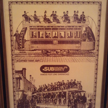 Vintage Subway Sandwich Wall Art Posters - Posters and Prints