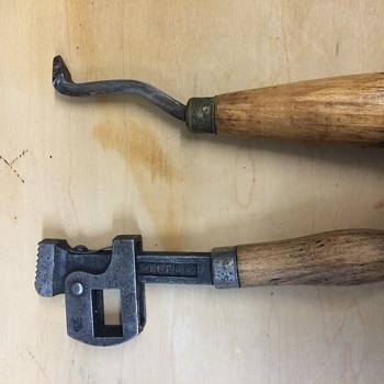 Old wrench and pick